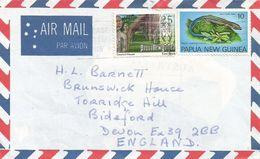 Papua New Guinea PNG 1978 Boroko Blue Tailed Skink Reptile Council House Cover - Papoea-Nieuw-Guinea