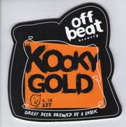 OFFBEAT BREWERY (CREWE, ENGLAND) - KOOKY GOLD - PUMP CLIP FRONT - Signs