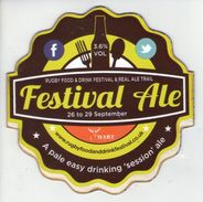 RUGBY FOOD & DRINK FESTIVAL & REAL ALE TRAIL - FESTIVAL ALE - PUMP CLIP FRONT - Signs