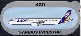 Avion Airbus Industrie Boeing A321 Autocollant Airplane Sticker - Aufkleber