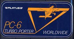 Avion Pilatus PC-6 Turbo Porter PC-7 Turbo-trainer 2 Autocollant Airplane 2 Sticker - Aufkleber