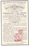 DP Gemeenteontvanger Theophile Van Eecke ° Boezinge Ieper 1861 † 1910 X Zoë Louwaege - Images Religieuses