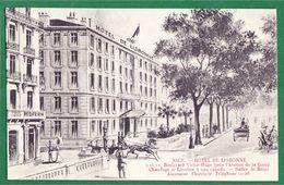 CPA NICE 06 - HOTEL De LISBONNE - Boulevard Victor Hugo - Cafés, Hôtels, Restaurants