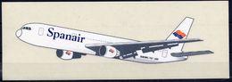 Spanair Espagne Spain España Avion Boeing 767 300 Autocollant Airplane Sticker - Aufkleber