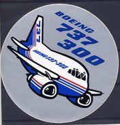 Avion Boeing 767 300 Autocollant Airplane Sticker - Aufkleber