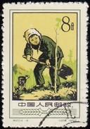 CHINA PEOPLE'S REPUBLIC - Scott #332 Woman Planting Tree / Used Stamp - 1949 - ... Volksrepubliek