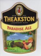 THEAKSTON BREWERY (MASHAM, ENGLAND) - PARADISE ALE - PUMP CLIP FRONT - Signs