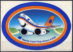 Hapag-Lloyd Airbus A 300 Avion Autocollant Airplane Sticker - Aufkleber