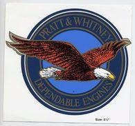 Pratt & Whitney Dependable Engines Ingénierie Aéronautique Avion Autocollant Aeronautic Engineering Airplane Sticker - Aufkleber