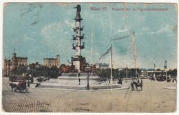 Wien, Praterstern Und Tegetthofdenkmal Old Postcard Travelled 1915 B171115 - Wien Mitte