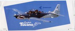 Embraer Brèsil Brazil Brasil Avion Super Tucano Autocollant Airplane Sticker - Aufkleber