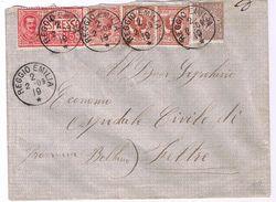 Espresso Reggio Emilia->Feltre V.1909 Quadricolore - Storia Postale