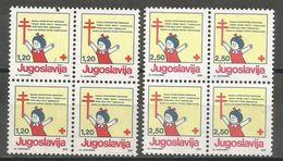 Yugoslavia,TBC 1991.,blocks Of Four-without Macedonia Issue,MNH - 1945-1992 Socialist Federal Republic Of Yugoslavia