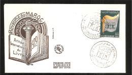 FDC   1972 Année Internationale Du Livre - Marruecos (1956-...)