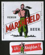 Marshfield Premium Beer, Marshfield Wisconsin (U.S.A.), Beer Label From 60`s. - Beer