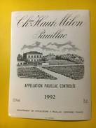 5753 - Château Haut Milon 1992 Pauillac - Bordeaux