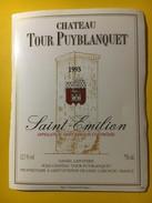 5754 - Château Tour Puyblanquet 1995 Saint-Emilion - Bordeaux
