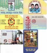 Bangladesh 6 Different Cards, Magnetic - Bangladesh