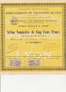 ACTION NOMINATIVE DE1898 -COMPAGNIE INTERNATIONALE DE DEMENAGEMENTS ET TRANSPORTS DE LYON. - Transport