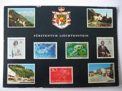 AK Liechtenstein, Fürstentum Mehrbildkarte - Liechtenstein