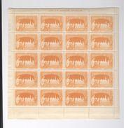 Exposition Internationale 1897 Bruxelles 4 Planches De 20 Timbres Lith. Goossens Bruxelles Erinnophilie - Ohne Zuordnung