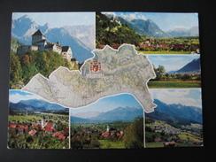 AK Liechtenstein, Fürstentum Mehrbildkarte Mit Versch. Orten - Liechtenstein