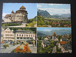 AK Liechtenstein, Vaduz Mit Schloß Und Stadtansichten - Liechtenstein