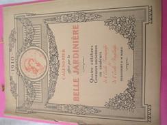 Calendrier De Luxe Très Grand Format/offert Par La BELLE JARDINIERE/Célébres Gravures Anciennes /Angers/1910      CAL383 - Calendriers