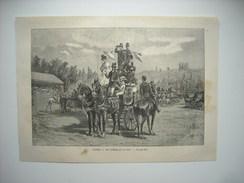 GRAVURE 1884. SAUMUR. LES COURSES DU 10 AOUT. - Stampe & Incisioni