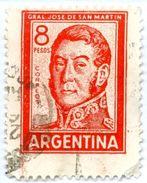 ARGENTINA, COMMEMORATIVO, GENERALE SAN MARTIN, 1965, FRANCOBOLLI USATI Scott 695A - Argentina