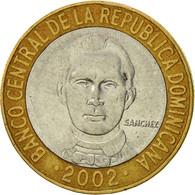 Dominican Republic, 5 Pesos, 2002, TTB, Bi-Metallic, KM:89 - Dominicana