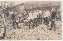 CPA Allemande-Militaires Soldats Allemand Transport De Bois Et Pierre-(guerre14-18)2scans TBE - Oorlog 1914-18