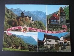 AK Liechtenstein, Schloß Vaduz, Rotes Haus... - Liechtenstein