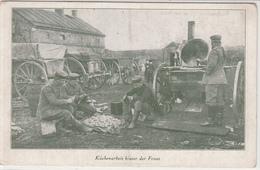 CPA Allemande-Küchenarbeit Hinter Front-1917 (guerre14-18)2scans - Guerre 1914-18