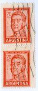 ARGENTINA, COMMEMORATIVO, GENERALE SAN MARTIN, 1967, FRANCOBOLLI USATI Yvert Tellier 781,  Scott 698A - Argentina