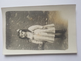 CARTE PHOTO Ancienne PETITE FILLE  CPA Animee Postcard - To Identify