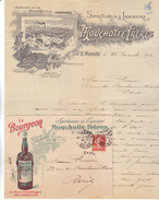 94 Saint Mandé.Lettre Illustrée Spiritueux & Liqueurs Mouchotte Frères De 1912 Avec Sa Rare Enveloppe Commerciale.TBE. - 1900 – 1949