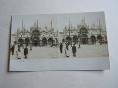VENEZIA CHIESA DI SAN MARCO  1800 PRIMI 1900 - Stereoscopi