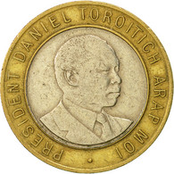 Kenya, 10 Shillings, 1995, British Royal Mint, TTB, Bi-Metallic, KM:27 - Brésil