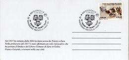 Italia 2017 Senigallia 64° Raduno Dalmati Italiani 70° Anniv. Trattato Di Parigi Annullo Su Cartolina Speciale - WW2