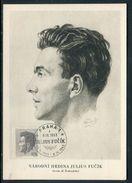 Tchécoslovaquie - Carte Maximum 1953 - Julius Fucik - Brieven En Documenten