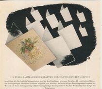 Deutsche Bundespost V. 1953  Telegramm Schmuckblätter  (51237) - Poste & Facteurs