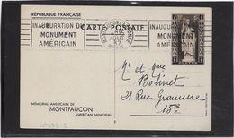 France Entiers Postaux Commémoratifs - Mémorial Américain De Montfaucon - Postal Stamped Stationery
