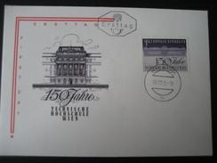 Österreich FDC Schmuckbelege 150 Jahre Techn. Hochschule Wien - 1961-70 Covers