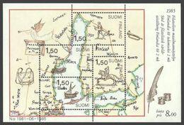 FINLAND 1985 FINLANDIA M/SHEET MAPS SHIPS HORSES M/SHEET MNH - Nuovi