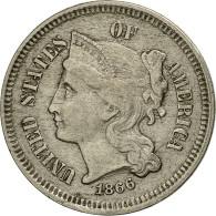 États-Unis, Nickel 3 Cents, 1866, Philadelphie, TTB+, Copper-nickel, KM 95 - Federal Issues