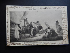CPA - LE DEPART DES PHOCEENS - CERCLE ARTISTIQUE - ANTONY REGNIER - CIRCULEE 1901 PRECURSEUR - R8398 - Paintings