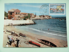 CARTE MAXIMUM CARD PORT DE L'ILE DE GOREE - Senegal (1960-...)