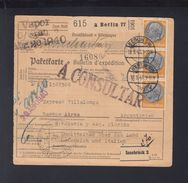 Dt. Reich Paketkarte 1940 Berlin Nach Argentinien MeF - Briefe U. Dokumente