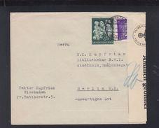 Dt. Reich Brief Wiesbaden 1944 über Das Auswärtige Amt Nach Schweden Amtlich Geöffnet - Storia Postale